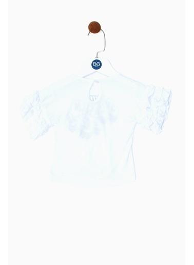 BG Baby Kız Bebek Beyaz T-Shirt 19SS0BG2528 Beyaz
